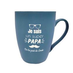 Mug céramique bleu - Je...