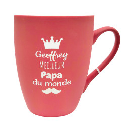 Mug céramique rouge -...
