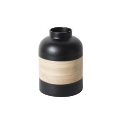 Pot décoratif en bambou noir