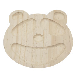 Plateau enfant panda en bois