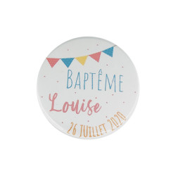 Grand badge baptême banderole