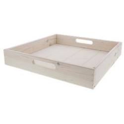 Plateau en bois 38 cm blanc