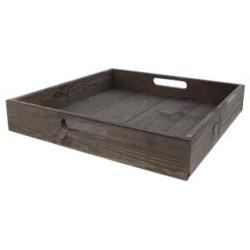 Plateau en bois 38 cm gris