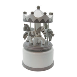 Carrousel musical taupe