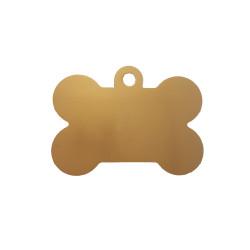 Médaille animaux os dorée