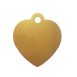 Médaille animaux Coeur Dorée