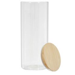 Bocal en verre et bambou 1.6L