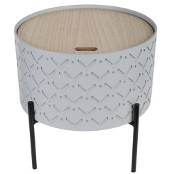 Table d'appoint grise